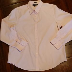 Jones New York Signature button down pink shirt